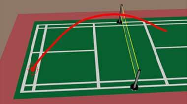 Badminton Underhand Long Serve